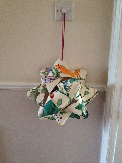 finished hanging paper rosette