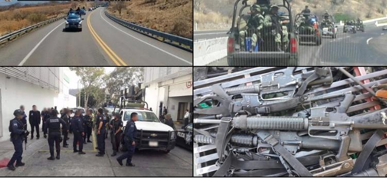 Convoy de sicarios se topa de frente con Sedena y SSP en Michoacán los atacan con barret y AK-47 militares repelen y caen ocho.