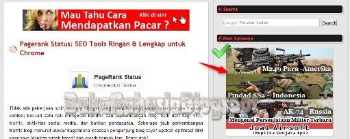 Preview hasil edit template blog