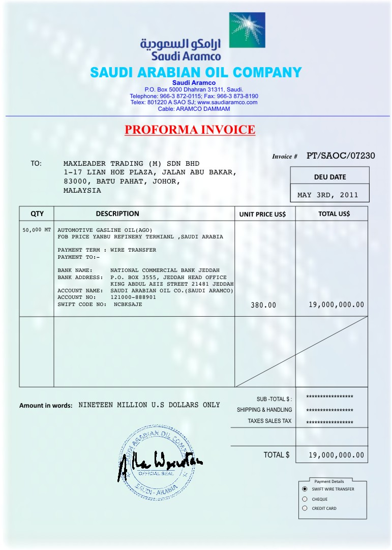 Nigerian Scammer or Fraudster on Petroleum deal Total SA France August 2011