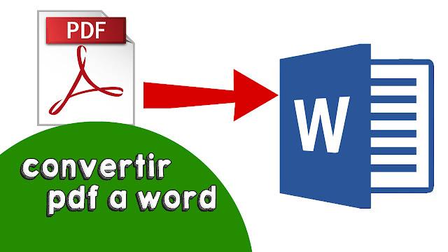 como convertir un pdf a word