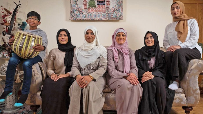 My Week As A Muslim: Katie sits with the rest of the family.