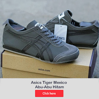 ASICS TIGER MEXICO WARNA ABU HITAM