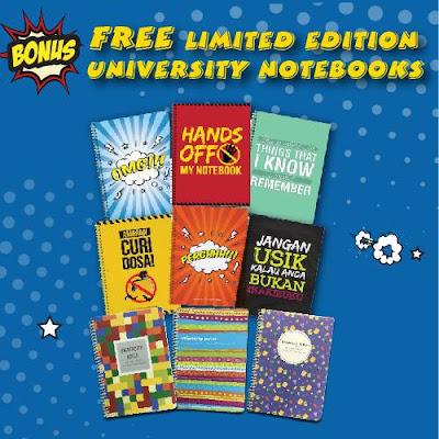 Free A4 university notebook