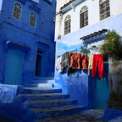 Rincón azul en Chauen