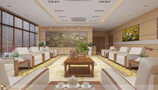 Trong thiết kế nội thất phòng khánh tiết sang trọng, để gây thiện cảm tốt đẹp với các vị khách