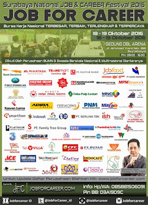 "Surabaya National ""JOB FOR CAREER"" Festival 2016"