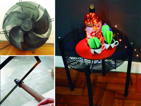 mesa lateral, upcycling, reciclagem, a casa eh sua, decoração, decor, mesa