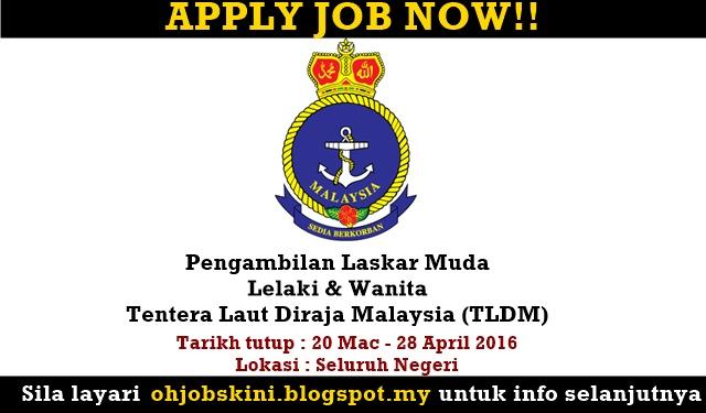Pengambilan Laskar Muda Tentera Laut Diraja Malaysia (TLDM)