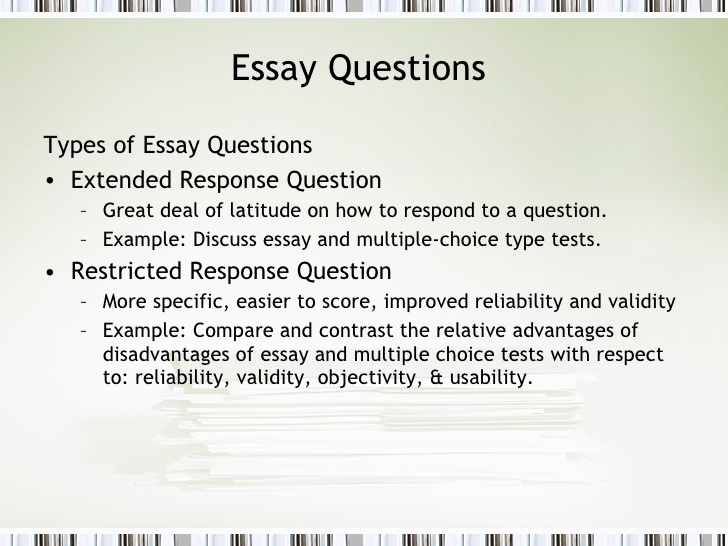 Test and essay items