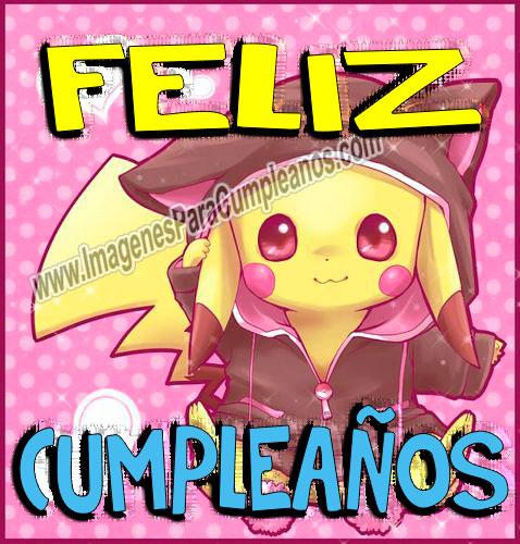 Pikachu Feliz Cumpleaños