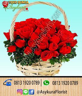 Toko Bunga Bekasi Bunga meja Bunga Rose In Basket