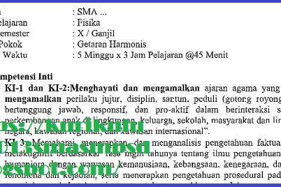 RPP SMA/SMK Fisika Kelas X Kurikulum 2013 Revisi