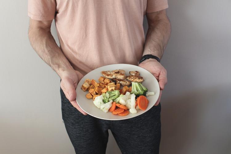 terveellinen ruoka-annos