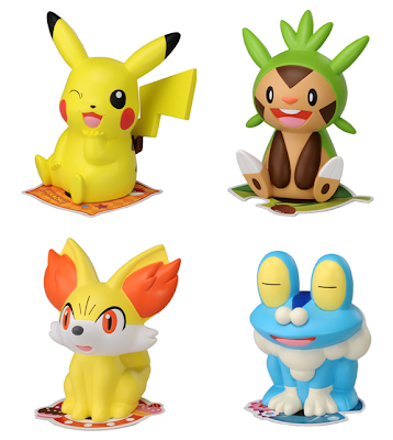 Pokemon Palm Top Figure Pikachu Chespin Fennekin Froakie Tomy