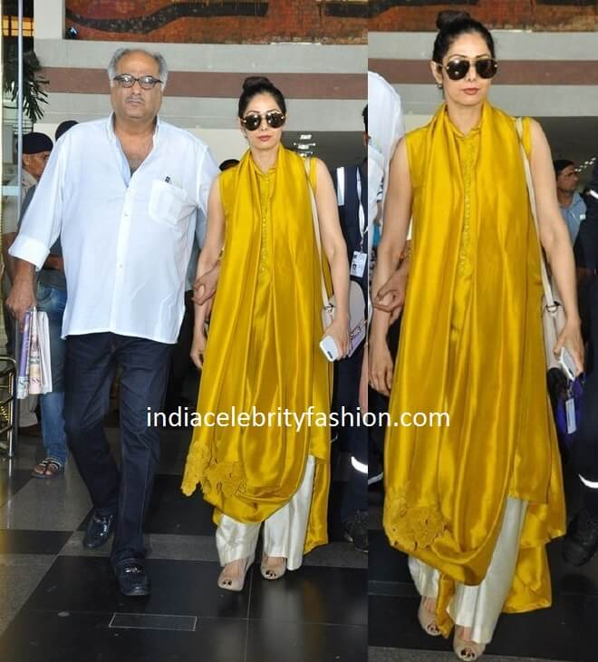 Sridevi Kapoor's Stylish Airport look