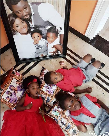 Mercy Johnson shares beautiful photos of her 3 children
