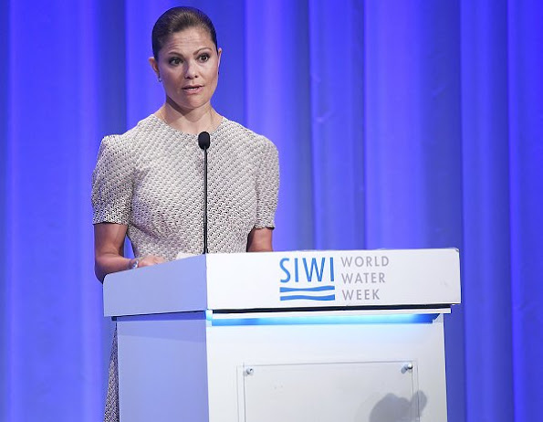 Crown Princess Victoria wore Prada Dress, Abro Clutch bag, Malene Birger shoes