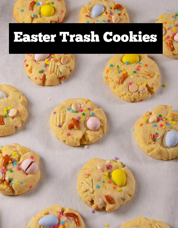 Easter Trash Cookies Recipe | Easter dessert recipe | easter treats for kids | easter recipe | easter cookies recipe | cookies recipe | Kids Food recipe #easter #cookiesrecipe #eastertreats #easterdessert #eastercookies #kidsfood #kidsfoodrecipe #easycookiesrecipe