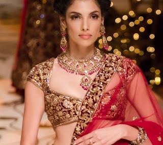 bridal lehengas blouse designs