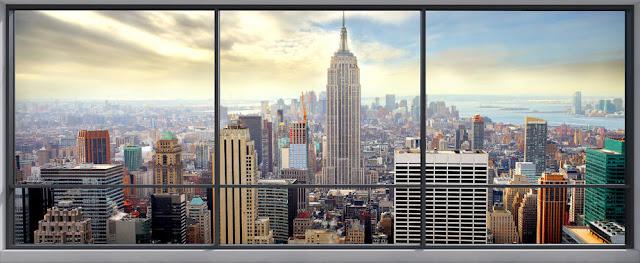 Ikkuna tapetti new york maisematapetti 3d