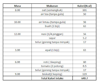 diet 500 kalori turun berapa kilo
