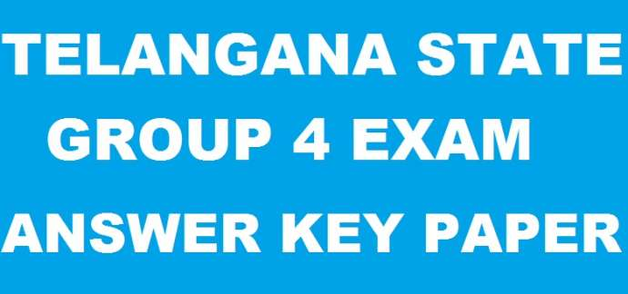 TSPSC Group 4 Answer Key, TSPSC Gr 4 Question Paper