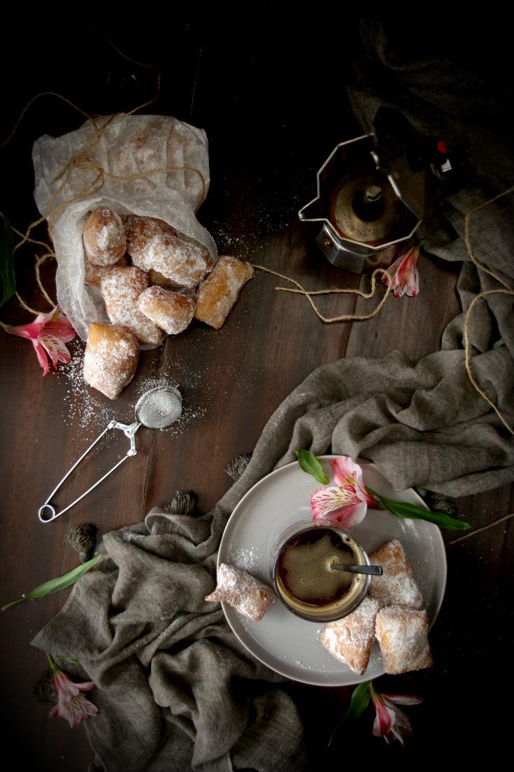 Buñuelos beignets de Nueva Orleans