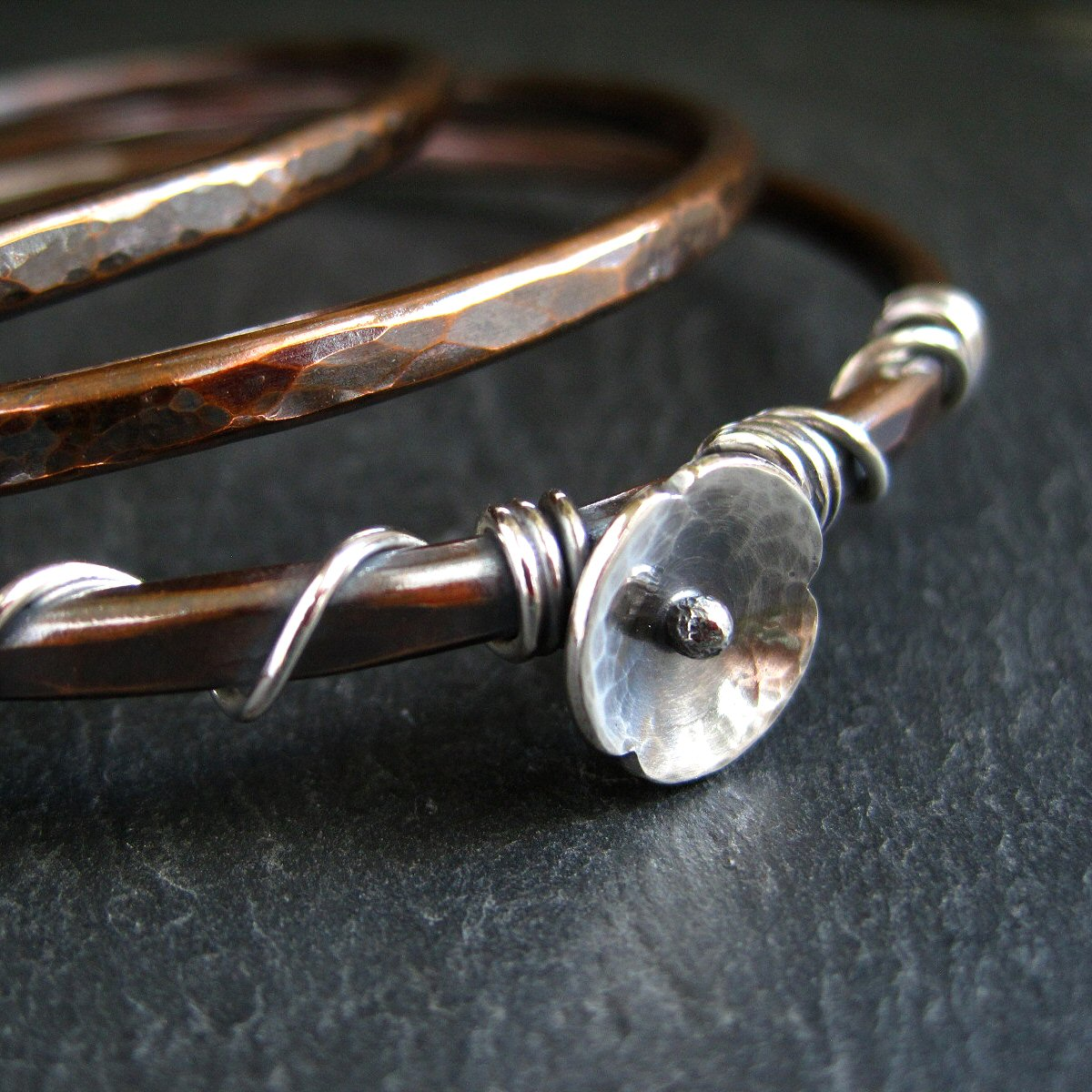 New Copper Bangles - Flowers, Beads, Twists And Linked Designs!