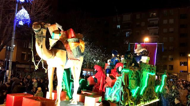 Carroza de Gaspar en la cabalgata de los Reyes Magos