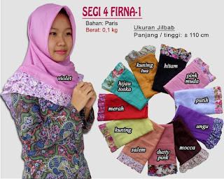 Grosir jilbab paris segi empat rempel motif terbaru-firna
