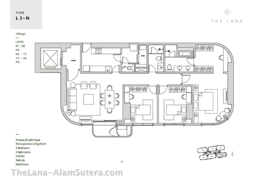 Type L3-N The Lana Alam Sutera