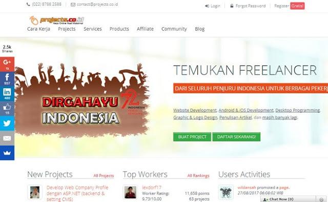 Project Lowongan Kerja Online Freelancer