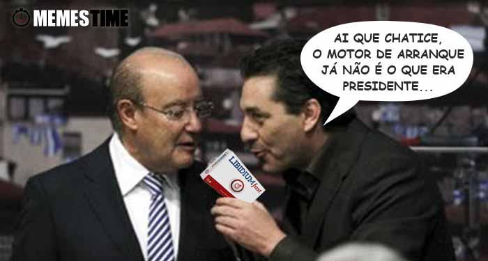 Memes Time Pinto da Costa e Paulo Futre – Ai que chatice, o Motor de arranque já não é o que era, Presidente.