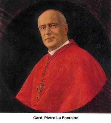 Cardeal Pietro La Fontaine, Patriarca de Veneza, (1860-1935), autor da compilação dos anúncios do Pe Clausi sobre o futuro flagelo divino.
