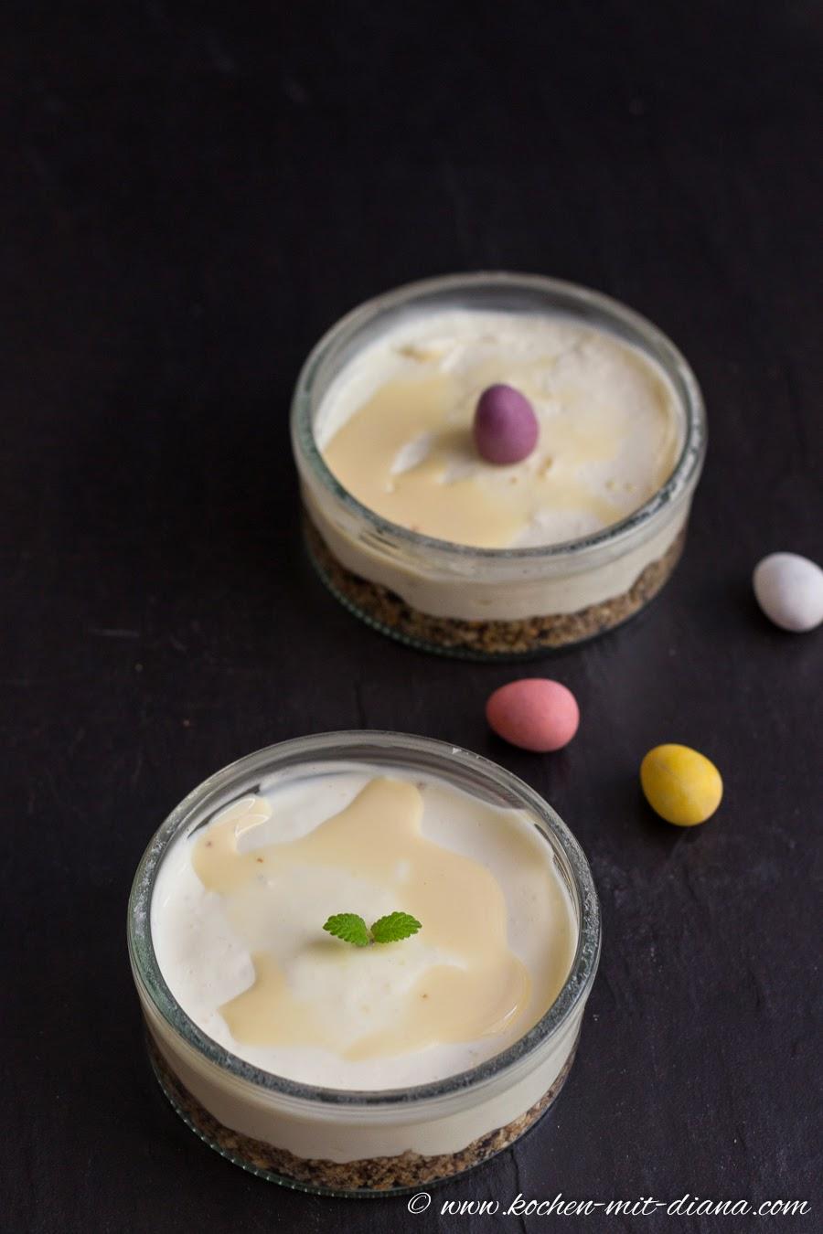 Eierlikör-Cheesecake im Glas