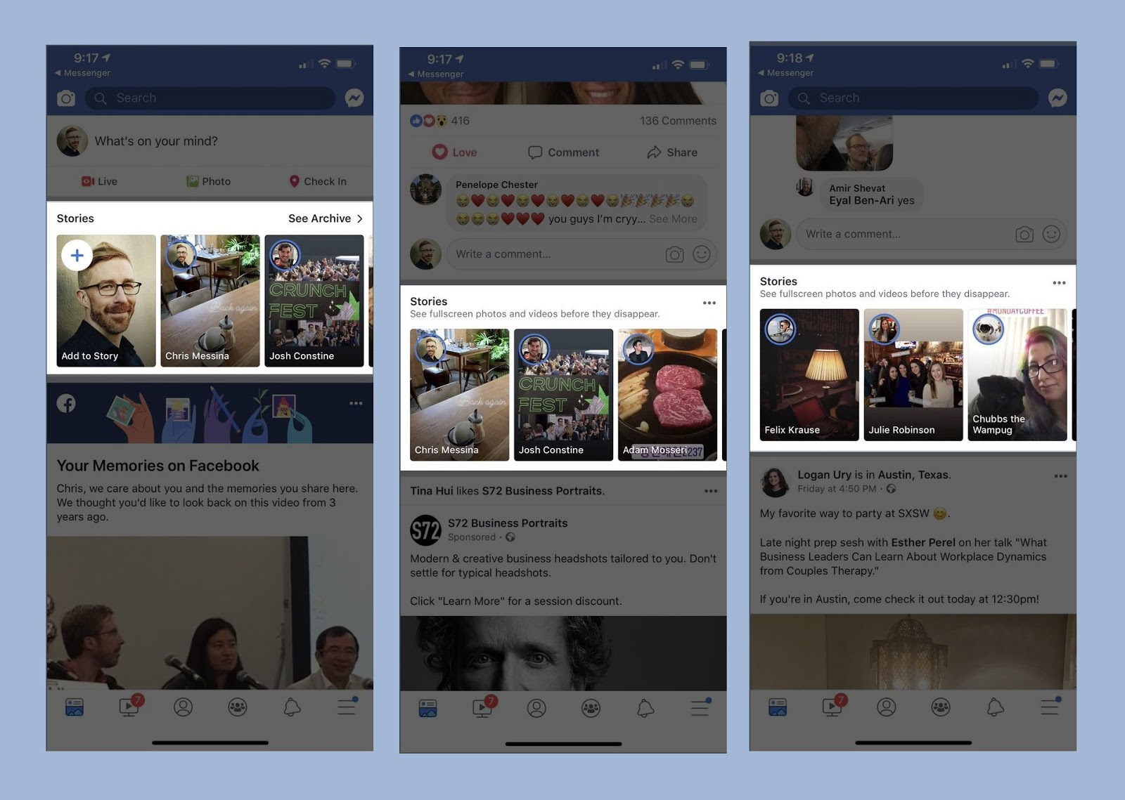 Facebook is trying hard to push Stories in users feed