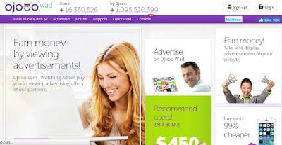 Pembayaran dari PTC Ojooo Watching Ads