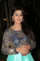 Nikki Galrani in Green Skirt  Top at Marakathamani music launch ~  Exclusive (85).JPG