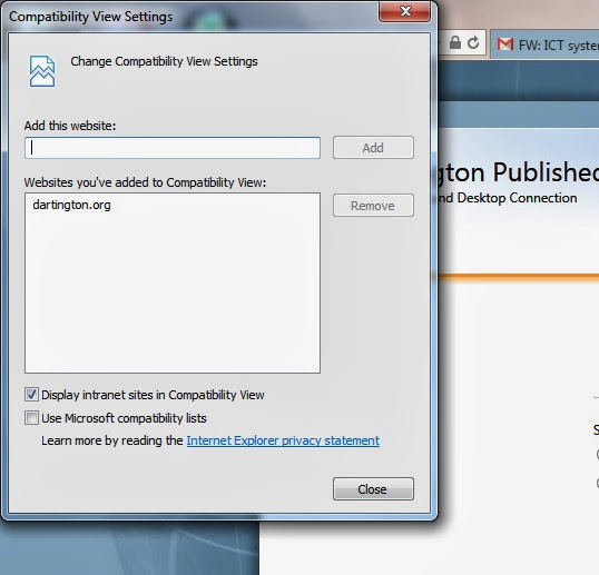 The Catling Mindswipe: How-to: Enable Compatibility View in