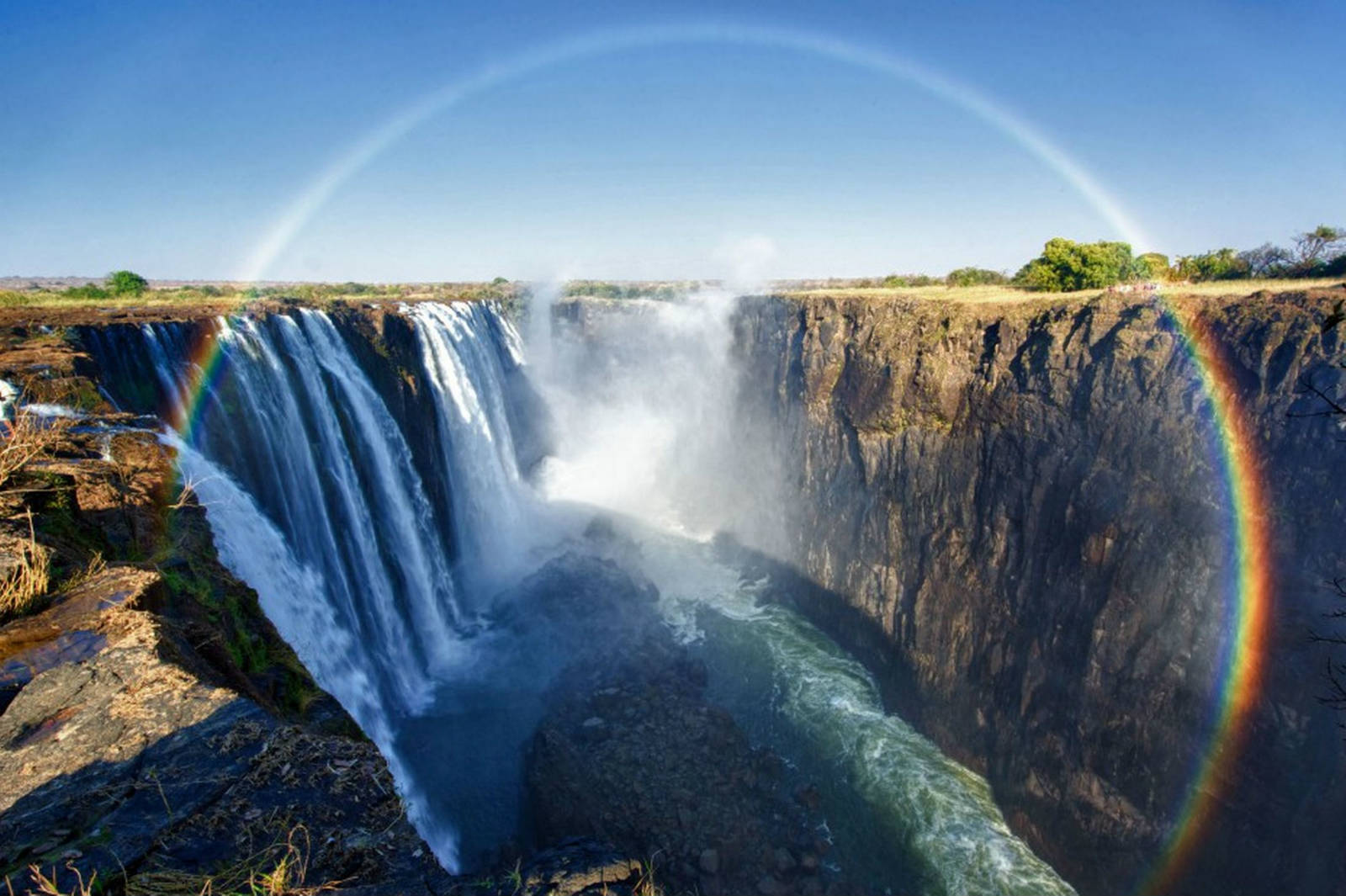 Victoria Falls,Zimbabwe HD Background