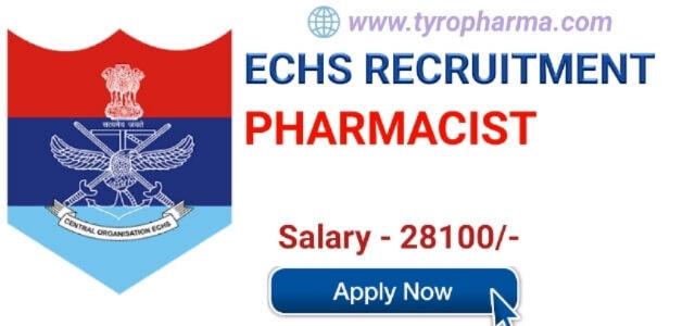 ECHS Pharmacist Recruitment 2019- Pharmacist job at Ex-Servicemen Contributory Health Scheme Ambala