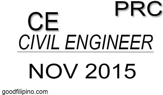 November 2015 Civil Engineer List of Board Exam Passers