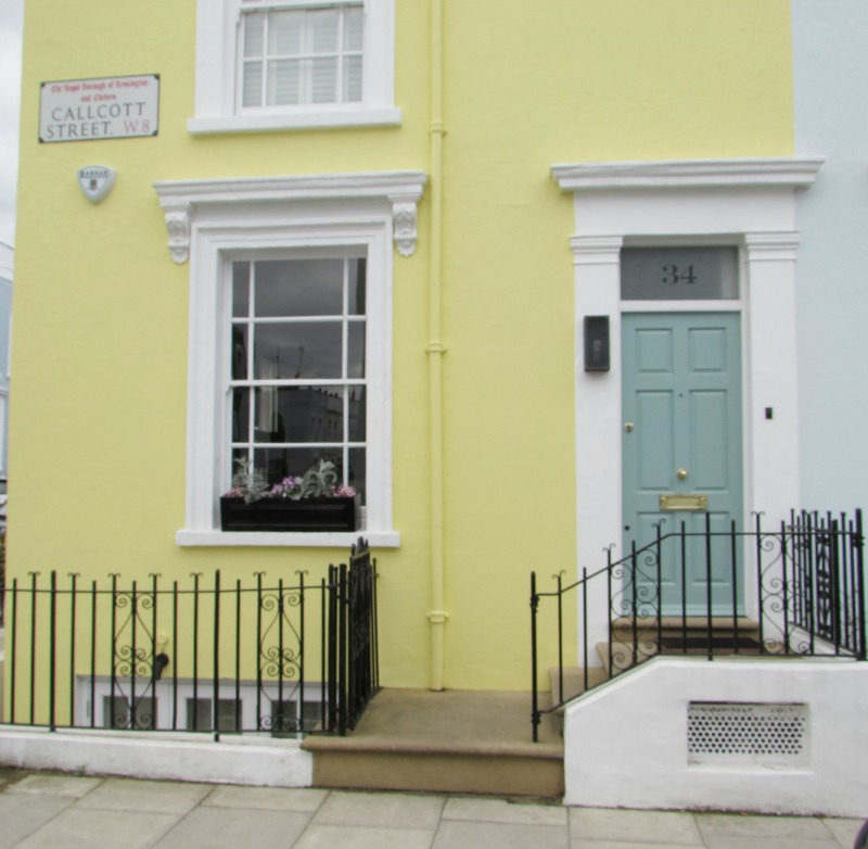 yellow house in Notting Hill