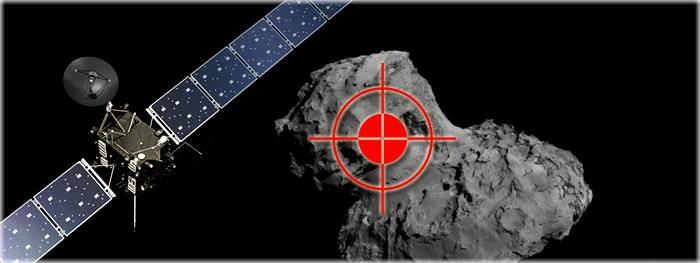 sonda Rosetta vai colidir com o cometa 67P-C-G