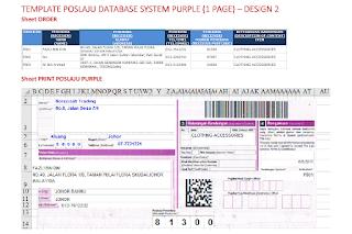 Template Poslaju Database System Purple (1 Page) - Design 2