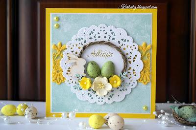 Wiosenna Kartka Wielkanocna