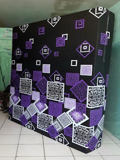 Kasur inoac motif darkmoon wajik ungu