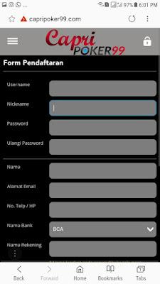 register capripoker99, capripoker99 android,pulsa poker