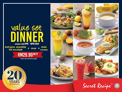 Secret Recipe Malaysia Value Set Dinner Promo